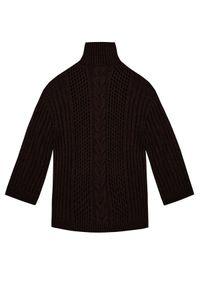 NANUSHKA - Bordowy sweter z golfem Diya. Typ kołnierza: golf. Kolor: brązowy. Materiał: jeans, wełna. Długość: długie. Sezon: jesień