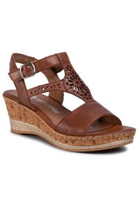 Brązowe sandały Remonte casualowe, na co dzień