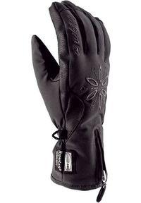 Rękawice damskie narciarskie Viking Colette 113152590. Materiał: materiał. Wzór: haft, kwiaty. Sport: narciarstwo