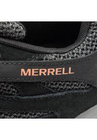 Merrell - Trekkingi MERRELL - Alverstone J48527 Black. Kolor: czarny. Materiał: skóra, skóra ekologiczna, zamsz, materiał. Szerokość cholewki: normalna. Sport: turystyka piesza