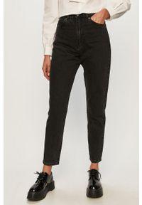 Czarne jeansy Dr. Denim z podwyższonym stanem