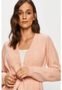 Różowy sweter rozpinany Vila