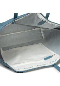 Niebieska torebka klasyczna Lacoste elegancka, na ramię