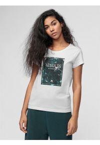 Biała koszulka sportowa 4f