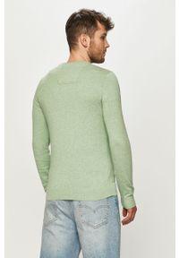 Zielony sweter Tom Tailor gładki, na co dzień, z długim rękawem, casualowy