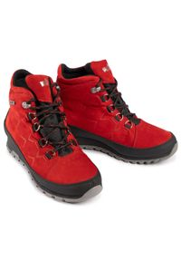 Czerwone buty trekkingowe Nik z cholewką, z aplikacjami, klasyczne #7