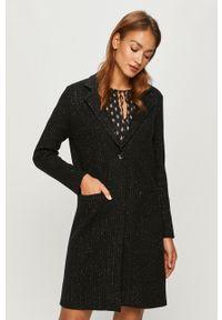 Czarny płaszcz Morgan casualowy, bez kaptura, na co dzień
