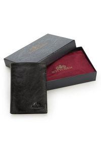 Wittchen - Męski portfel ze skóry klasyczny. Kolor: czarny. Materiał: skóra