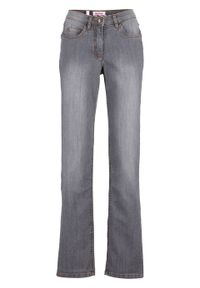 Szare jeansy bonprix klasyczne