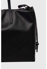 Sisley - Torebka. Kolor: czarny. Rodzaj torebki: na ramię
