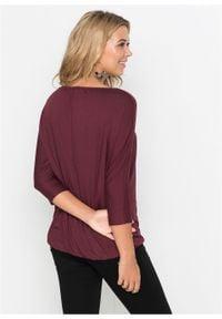 """Shirt """"oversize"""" bonprix bordowy. Kolor: czerwony"""
