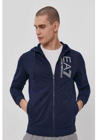 EA7 Emporio Armani - Bluza. Okazja: na co dzień. Kolor: niebieski. Wzór: nadruk. Styl: casual