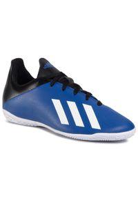 Niebieskie buty do piłki nożnej Adidas na co dzień, z cholewką