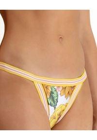 ZIMMERMANN - Dół od bikini Poppy. Stan: obniżony. Kolor: żółty. Materiał: lycra. Wzór: nadruk, kwiaty