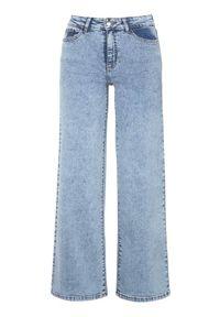 Niebieskie jeansy Happy Holly klasyczne, z podwyższonym stanem