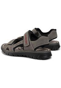 Szare sandały Rieker na lato, na co dzień, klasyczne