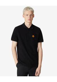 Kenzo - KENZO - Czarna koszulka polo Tiger Crest. Okazja: na co dzień. Typ kołnierza: polo. Kolor: czarny. Materiał: bawełna. Wzór: aplikacja. Styl: klasyczny, casual