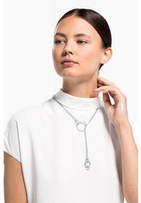 Srebrny naszyjnik Swarovski z kryształem, metalowy