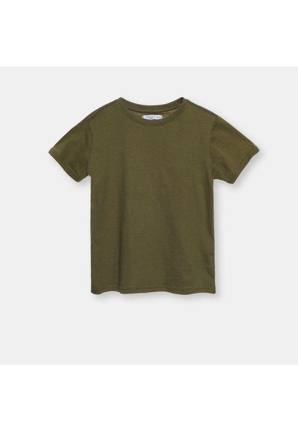 Brązowy t-shirt Sinsay