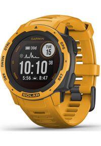 GARMIN - Zegarek sportowy Garmin Instinct Solar Żółty (010-02293-09). Kolor: żółty. Styl: sportowy