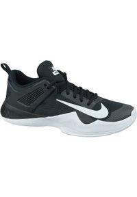Czarne buty do siatkówki Nike w kolorowe wzory, z cholewką