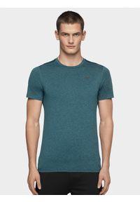 4f - Koszulka treningowa męska. Kolor: morski. Materiał: materiał, dzianina