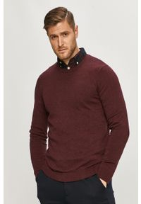 Brązowy sweter Only & Sons na co dzień, z długim rękawem