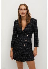Czarna sukienka mango mini, prosta, na spotkanie biznesowe, biznesowa