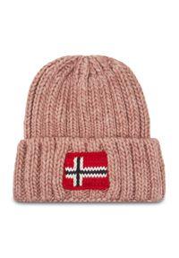 Różowa czapka zimowa Napapijri