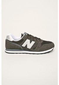 Szare sneakersy New Balance na sznurówki, z cholewką