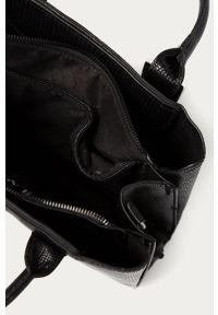 Czarna shopperka Answear Lab skórzana, wakacyjna, gładkie, duża #5