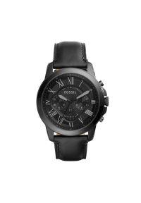 Czarny zegarek Fossil vintage