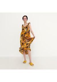 House - Sukienka midi z bawełny - Wielobarwny. Materiał: bawełna. Długość: midi