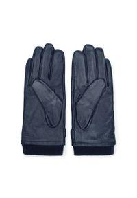 Niebieskie rękawiczki Wittchen klasyczne