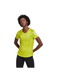 Adidas - Koszulka damska do biegania adidas Own The Tee GJ9983. Materiał: materiał, skóra, poliester. Długość rękawa: krótki rękaw. Długość: krótkie. Sport: fitness