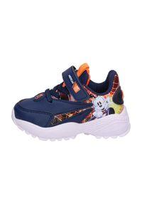 American Club - Sportowe buty dziecięce AMERICAN BD07/21 NV. Kolor: niebieski. Materiał: skóra