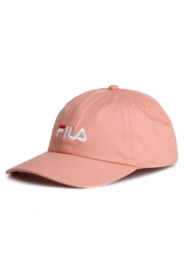 Różowa czapka z daszkiem Fila