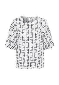 Cellbes Bluzka we wzory biały Czarny female biały/czarny 34/36. Kolor: wielokolorowy, biały, czarny. Materiał: wiskoza, tkanina, włókno. Styl: elegancki