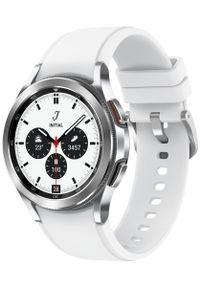 SAMSUNG - Samsung Galaxy Watch4 Classic 42mm Silver. Kolor: srebrny. Styl: militarny