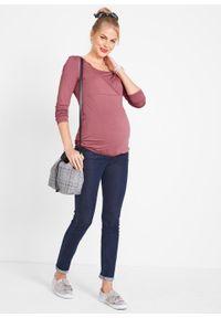 Fioletowa bluzka bonprix moda ciążowa, z długim rękawem