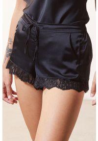 Czarna piżama Etam gładkie