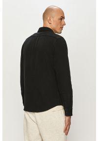 Czarna koszula Lee długa, gładkie