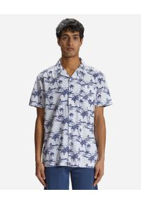 North Sails - NORTH SAILS - Wzorzysta koszula z bawełny. Kolor: biały. Materiał: bawełna