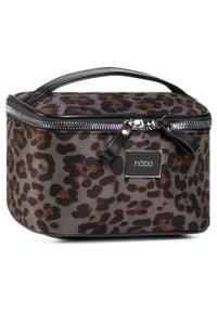 Nobo - Kosmetyczka NOBO - NCOS-I0113-CM20 Czarno-Szary. Kolor: szary. Materiał: skóra, materiał