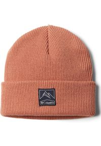 Różowa czapka columbia na zimę