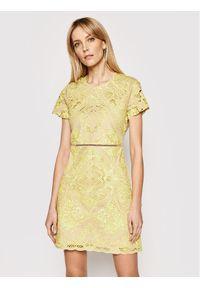 Żółta sukienka TwinSet na co dzień, prosta
