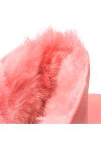 Różowe śniegowce Ugg z aplikacjami, na zimę, z cholewką