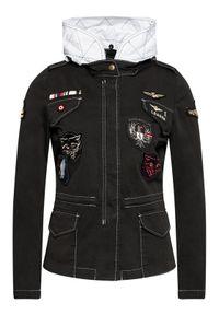 Aeronautica Militare Kurtka przejściowa 211AB1961DCT2867 Czarny Regular Fit. Kolor: czarny