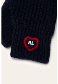 Niebieskie rękawiczki Polo Ralph Lauren