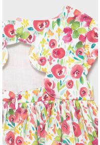 Sukienka Mayoral w kwiaty, mini, z krótkim rękawem